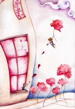 """""""A Cuor leggero"""" project for Nicuzza competition, illustration show- watercolor & digital 2015"""