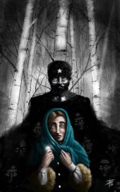 """""""Komarova"""" - Cover Illustration for the e-book """"Larisa Komarova finds love"""". by Ekaterina Sedia, published in the collection Futurefiction - Mincione Editore. 2016 - Digital"""