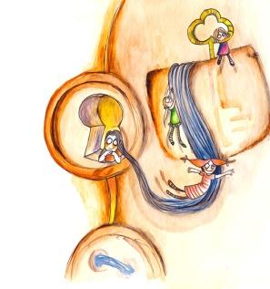 """""""scivolando""""-personal project- watercolor"""