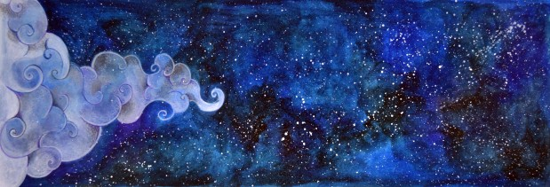 """The sky"", personal project, acrilic"